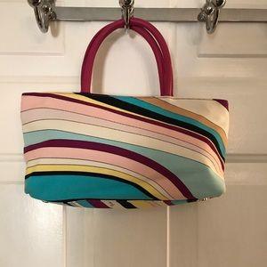 Emilio Pucci Printed Canvas Leather Tote Bag